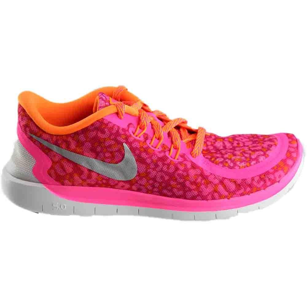 Nike FREE 5.0 PRINT GS Pink - Womens  - Size 4.5