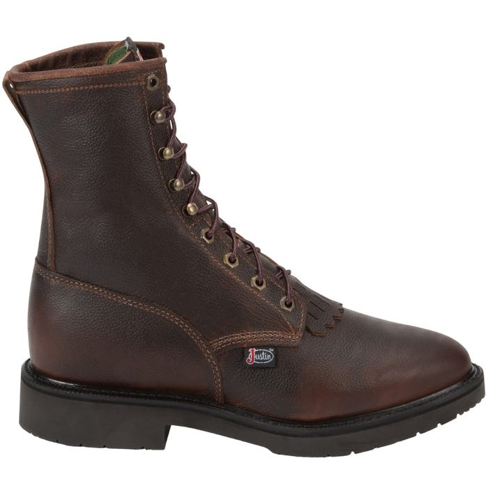Justin Original Work Briar Pitstop 8in Non-Safety Toe
