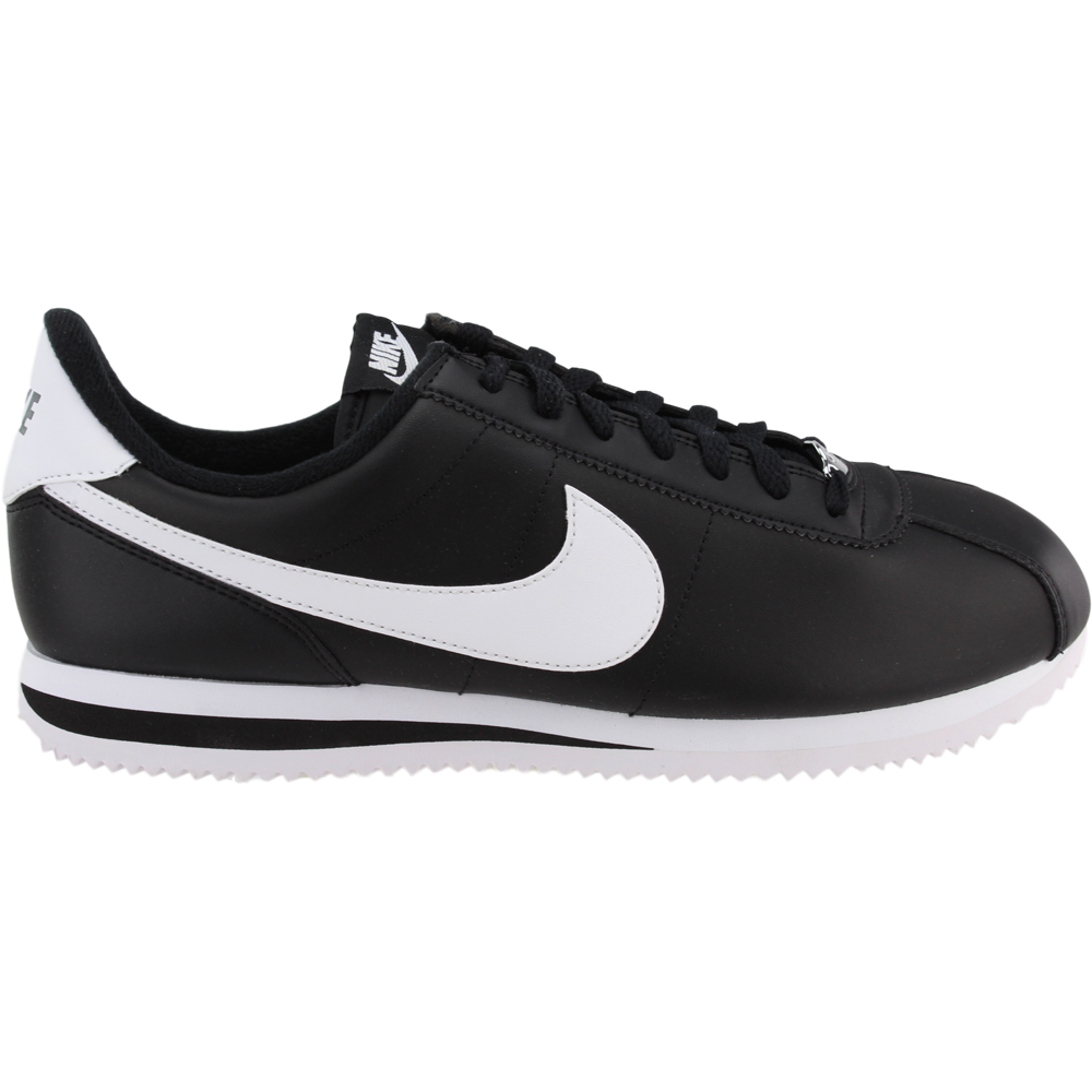 reputable site 7c66d 06144 Details about Nike Cortez Basic Leather Sneakers - Black - Mens