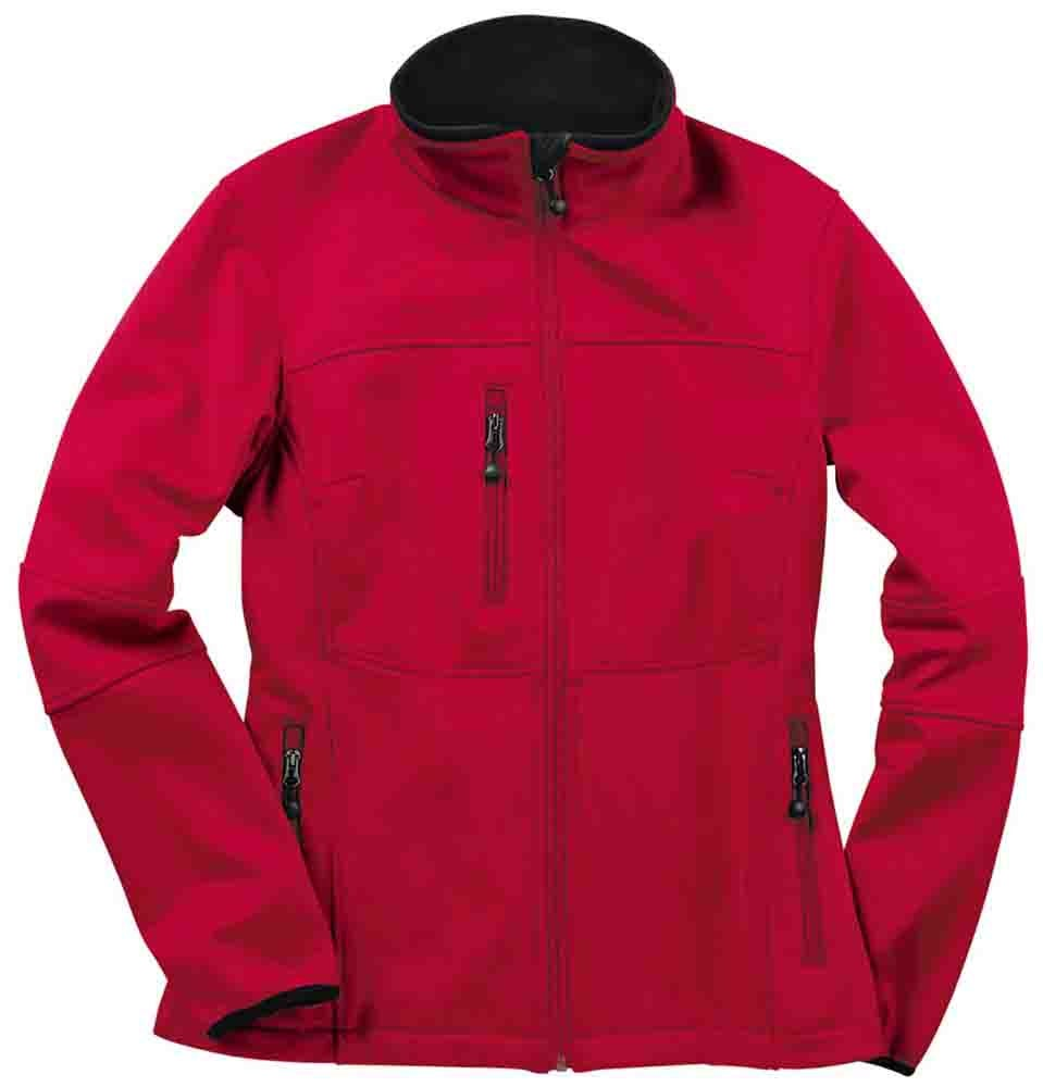 River's End Soft Shell Jacket - Red - Womens