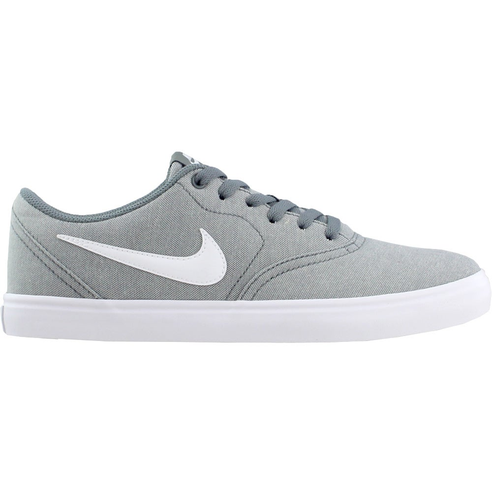 official photos 8c4e8 7f2c0 Details about Nike SB Check Solarsoft Canvas Skate Shoes - Grey - Mens
