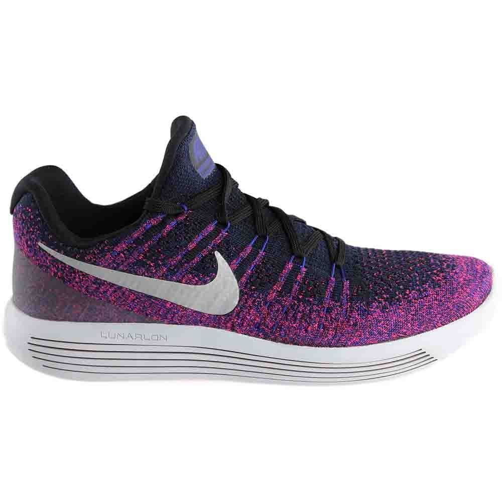 size 40 c68be 6ef75 Details about Nike Lunarepic Low Flyknit 2 Running Shoes Black Purple -  Womens - Size 12 D