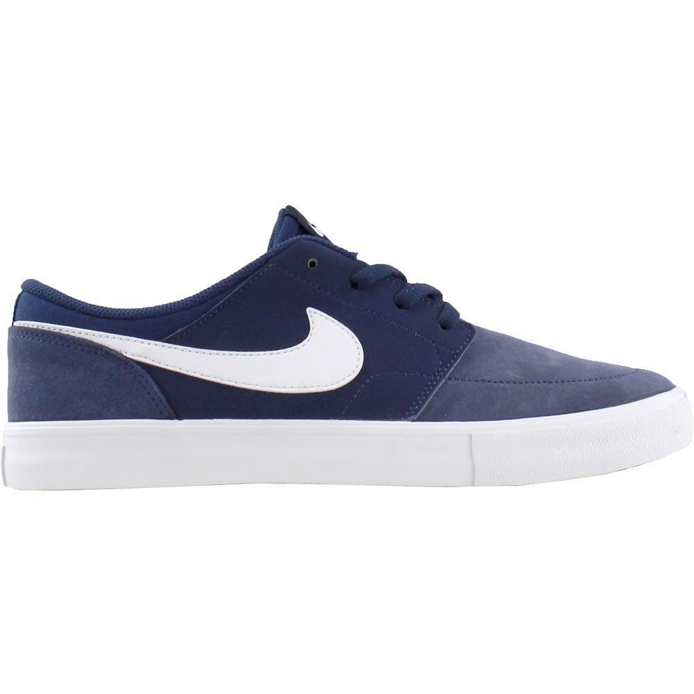 Details about Nike SB Solarsoft Portmore II Skate Shoes - Navy - Mens a4468e98e