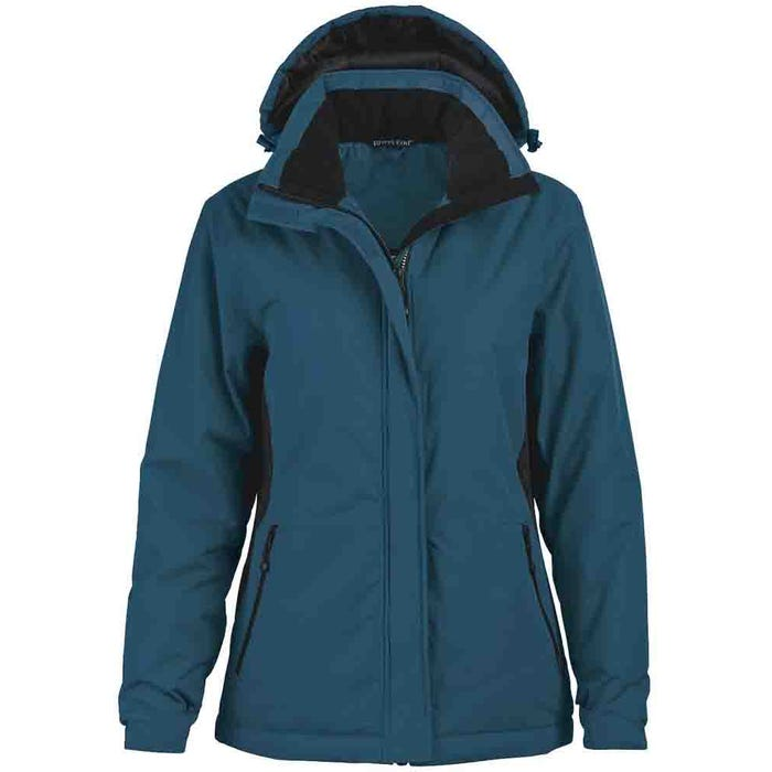 Rivers End Womens Classic Color Block Parka