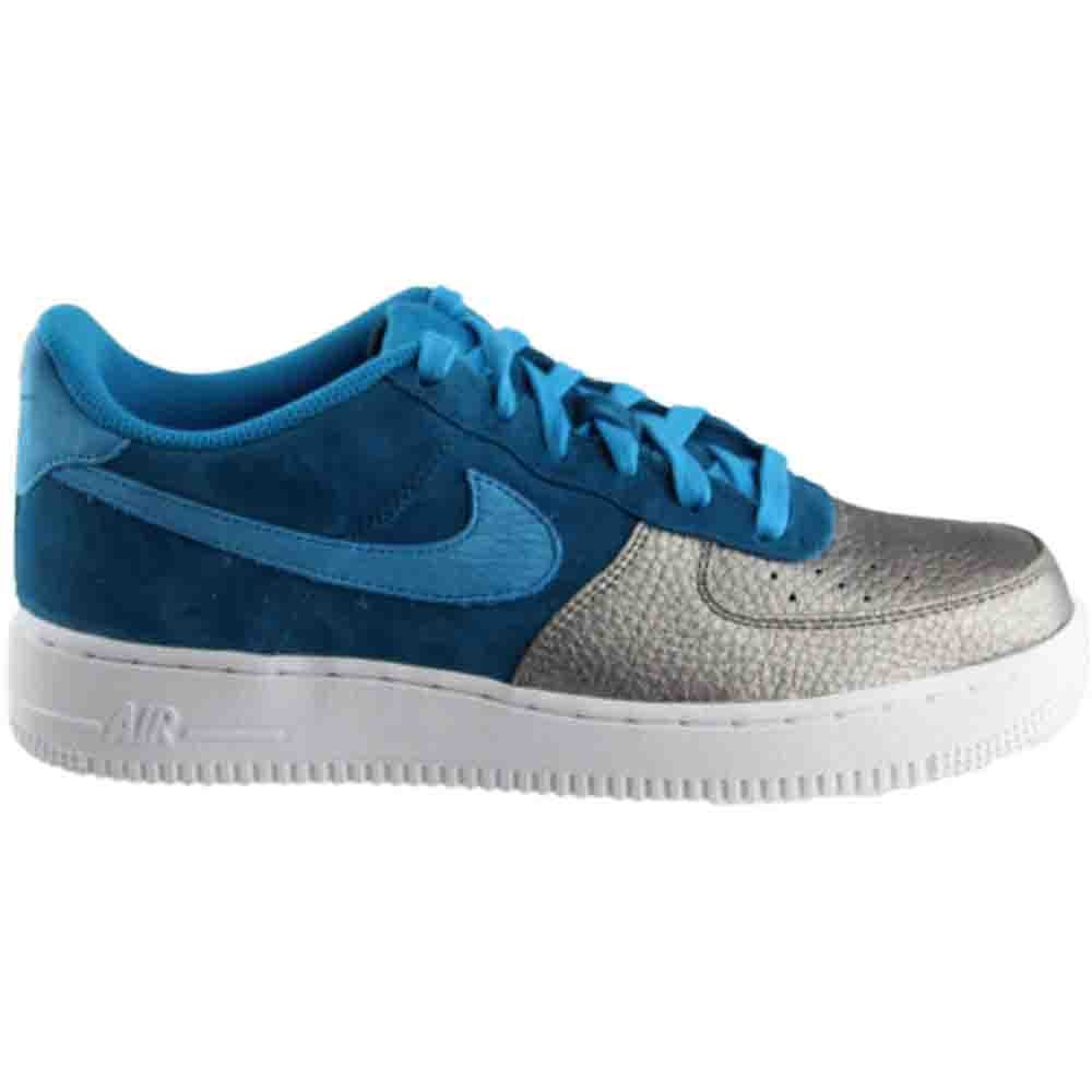 best service d2451 88907 Nike Air Force 1 QS Grade School Sneakers Blue Silver- Boys- Size 5
