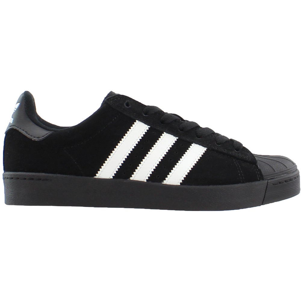 huge discount 97361 ddd5f Details about adidas Superstar Vulc Adv Skate Shoes - Black - Mens