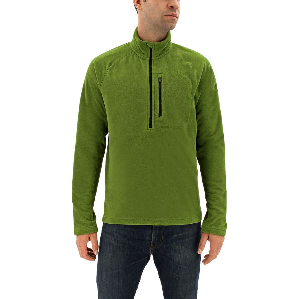 adidas Reachout 1/2 Zip Pullover Green - Mens  - Size L
