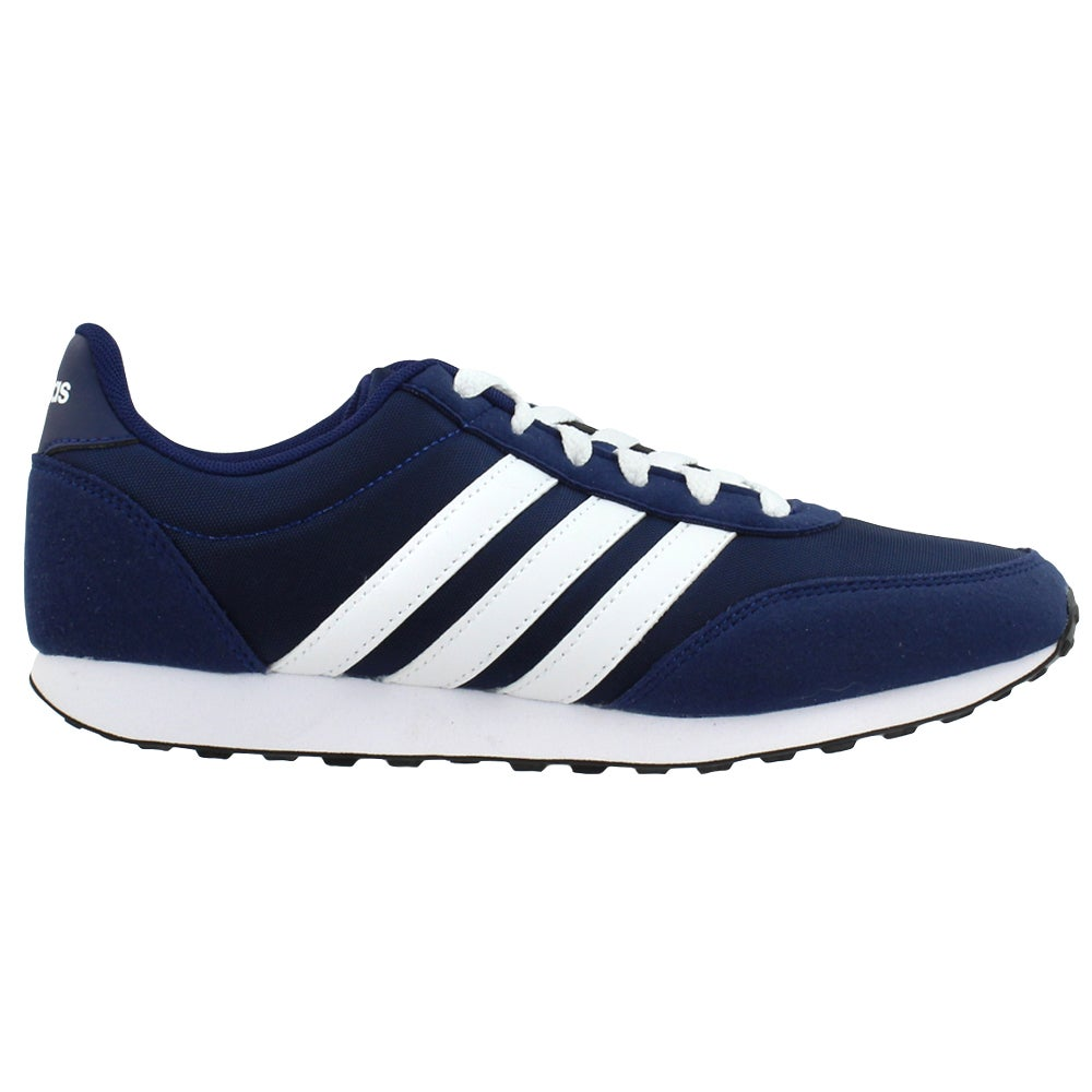 adidas V Racer 2.0 Lace Up Sneakers Blue Mens Lace Up, Sportstyle ...
