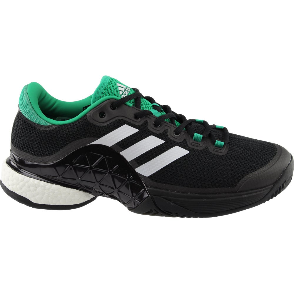 low priced c7c62 a746b Details about adidas Barricade 2017 Boost Tennis Shoes Black - Mens - Size  13.5 D