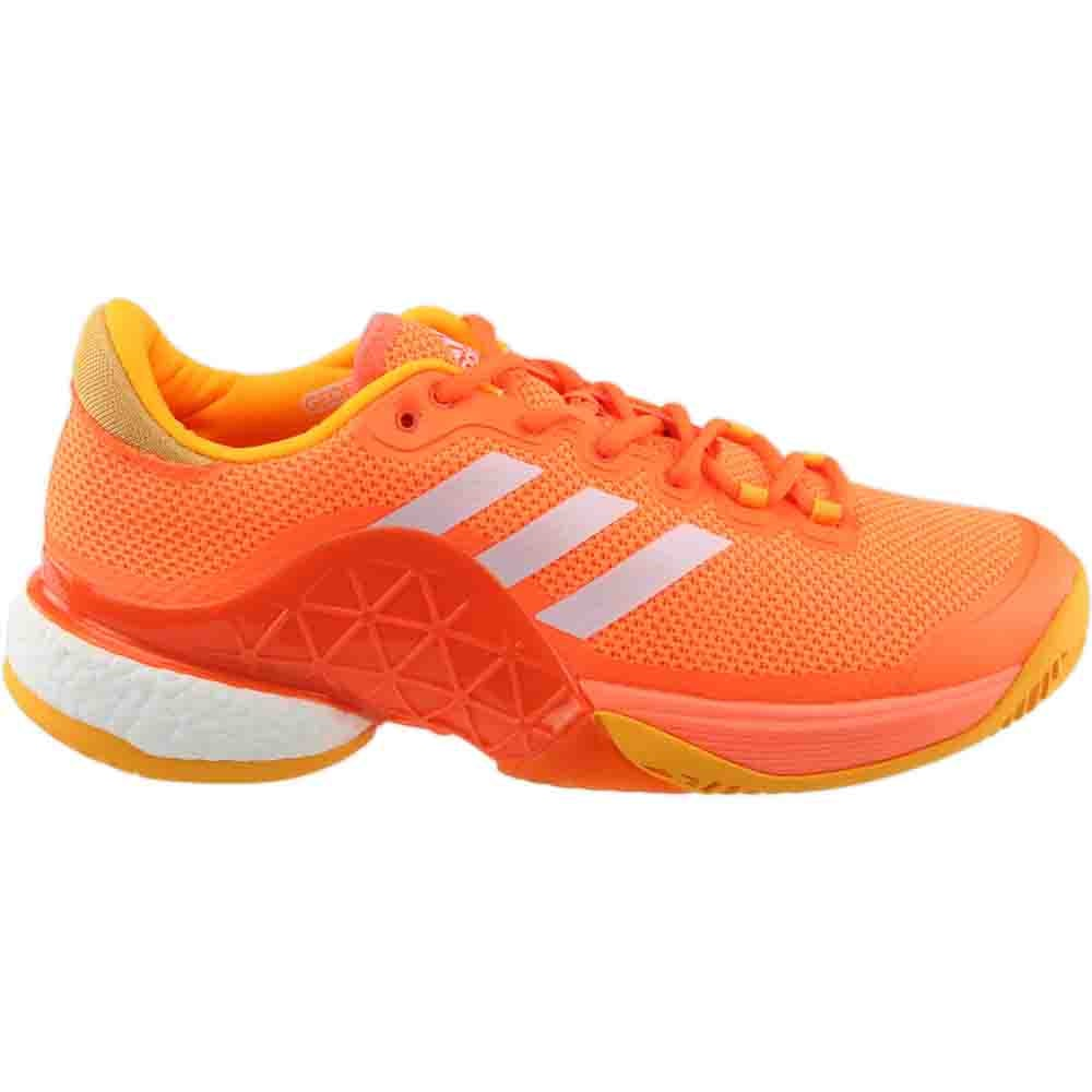 best service 3ec45 f646f Details about adidas Barricade 2017 boost Tennis Shoes - Orange - Mens