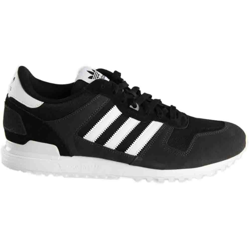 save off 31527 fab0a Details about adidas ZX 700 Running Shoes Black - Mens - Size 8 D