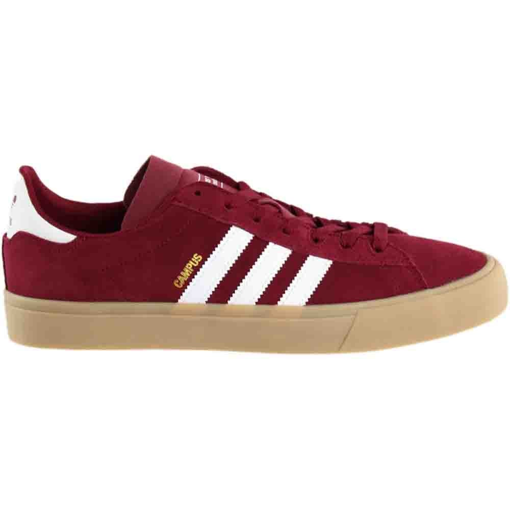 new product d68b7 9fc7b Details about adidas CAMPUS VULC II ADV Skate Shoes Red - Mens - Size 9 D