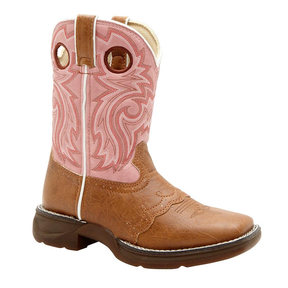 Lil' Durango Big Kid Tan/Pink Western Boot
