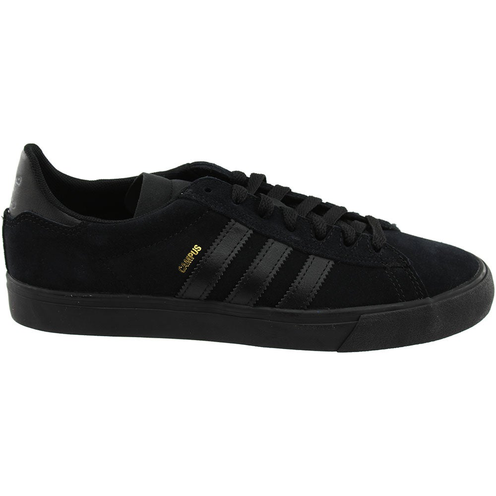 online retailer 26f44 cb3bc Details about adidas CAMPUS VULC II Skate Shoes - Black - Mens