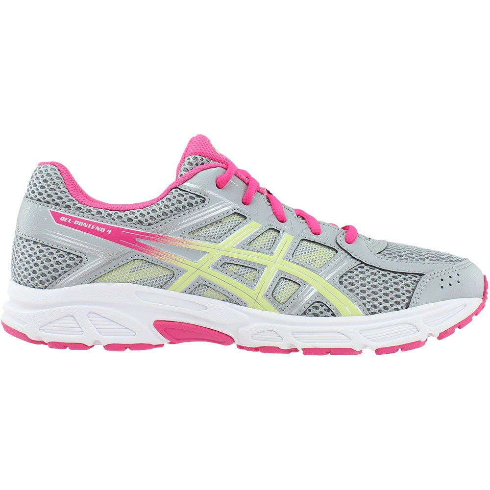 4f559cd2aa21 Details about ASICS Gel-Contend 4 Grade School Running Shoes - Grey - Girls