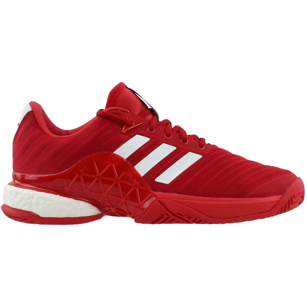 8f04b96f87ba Details about adidas Barricade 2018 Boost Tennis Shoes - Red - Mens