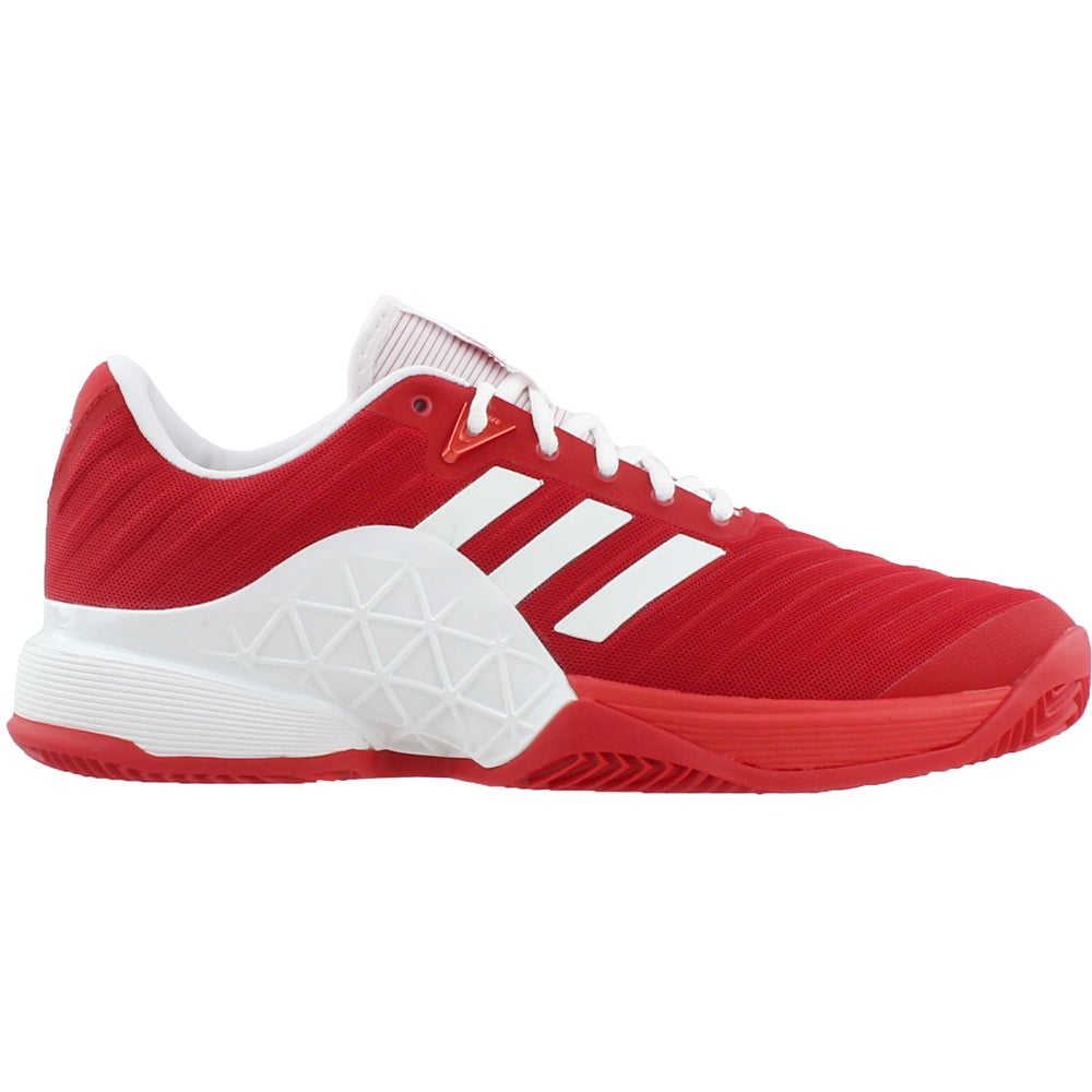 buy popular f0384 82abe Details about adidas Barricade 2018 Clay Tennis Shoes - Red - Mens