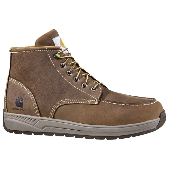 e82ef057803 Carhartt 4 In Lightweight Wedge Moc Toe Brown Work Boots and get free  shipping on orders more than  75