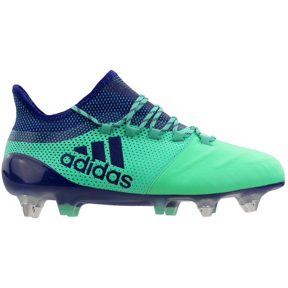 a lo largo tambor toque  adidas X 17.1 Soft Ground Soccer Cleats Green Mens Lace Up Athletic