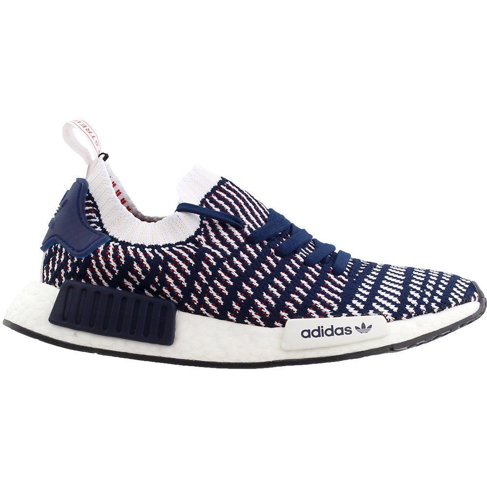 Navy adidas NMD/_R1 STLT Primeknit Sneakers Casual Mens