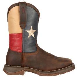Rebel by Steel Toe Texas Flag Western Boot