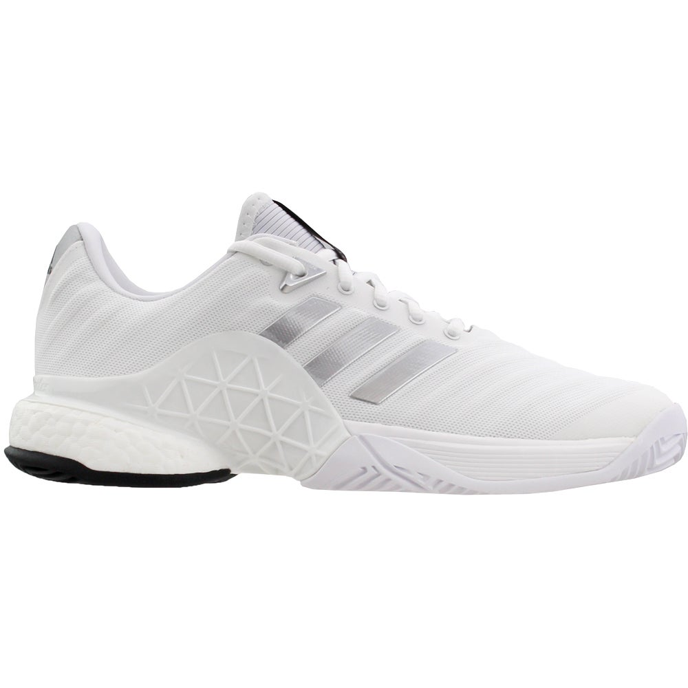 c427156edf18 Details about adidas Barricade 2018 Boost Tennis Shoes - White - Mens