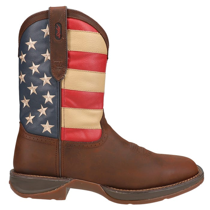 Rebel by Patriotic Pull-On Western Flag Boot