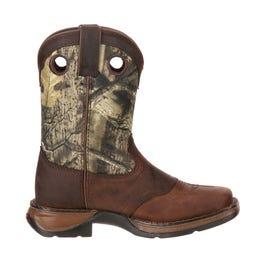 Lil' Big Kid Camo Saddle Western Boot