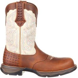 Lady Rebel Composite Toe Saddle Western Boot