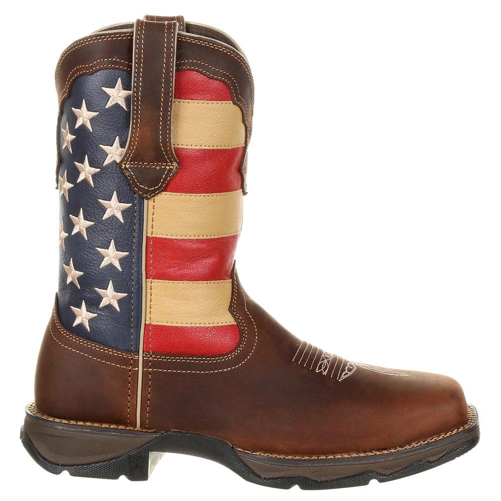 Durango Lady Rebel Steel Toe Patriotic Flag Work Boot