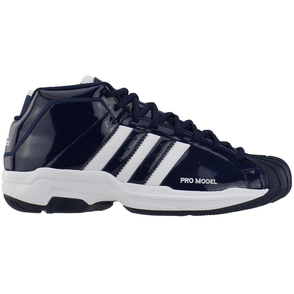 adidas Pro Model 2G Basketball Shoes (Big Kid) Black Boys Lace Up ...
