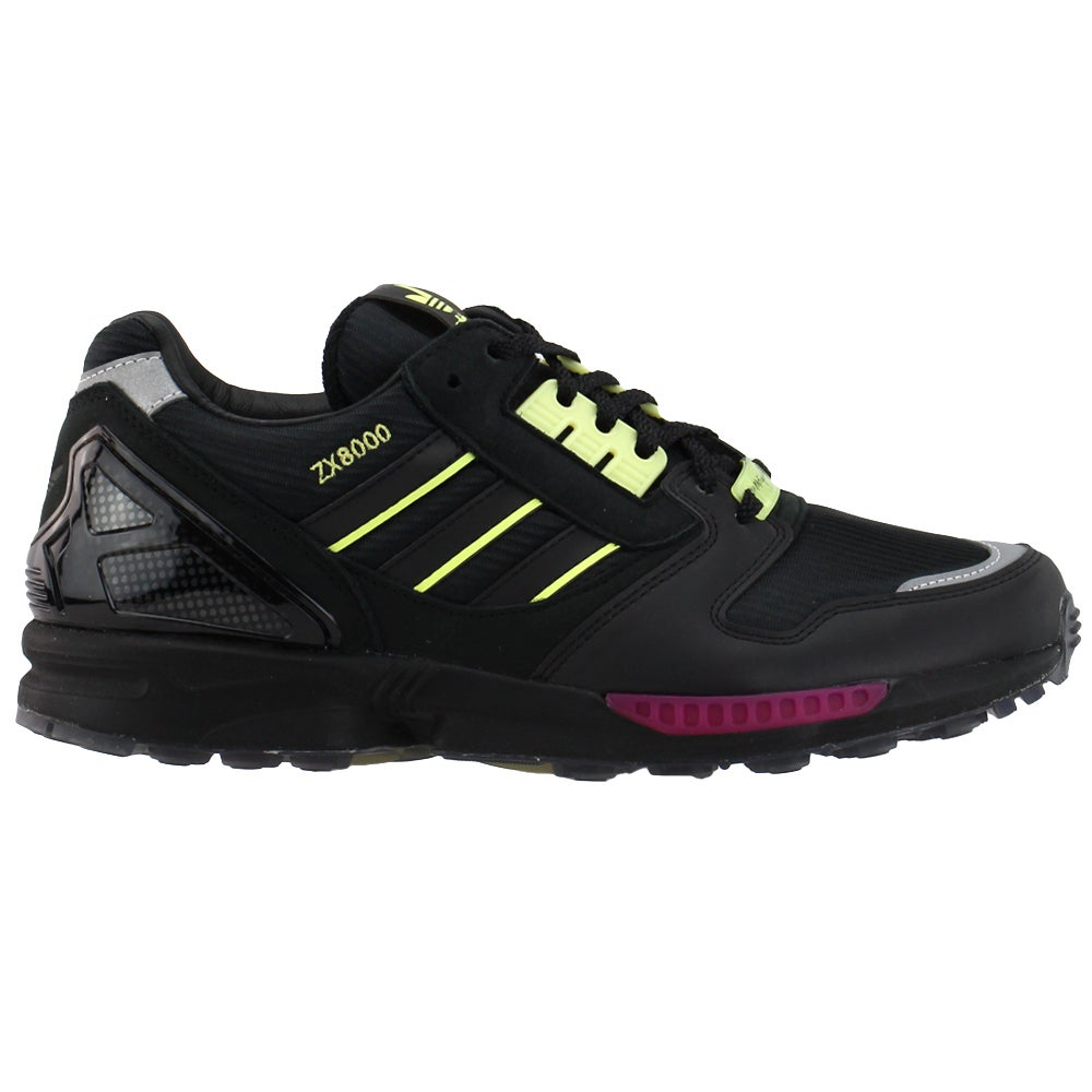 adidas Zx 8000 X Metropolitan Lace Up Sneakers Casual Shoes Black- Mens- Size 10 D