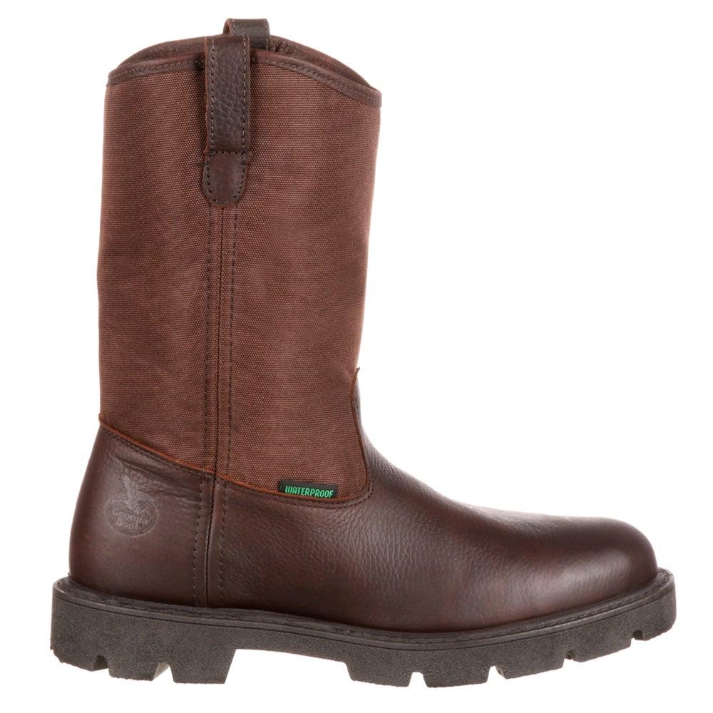 4d537f0d778 Details about Georgia Boots Georgia Homeland Waterproof Wellington Work  Brown - Mens - Size