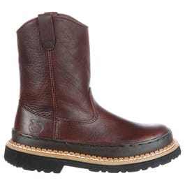 411fb0644ae Georgia Boot Homeland Steel Toe Waterproof Wellington Brown Work ...