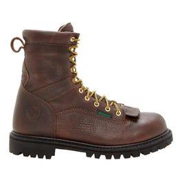 1b119598b93 Georgia Boot Side Zip Wellington Waterproof Brown Work Boots and get ...