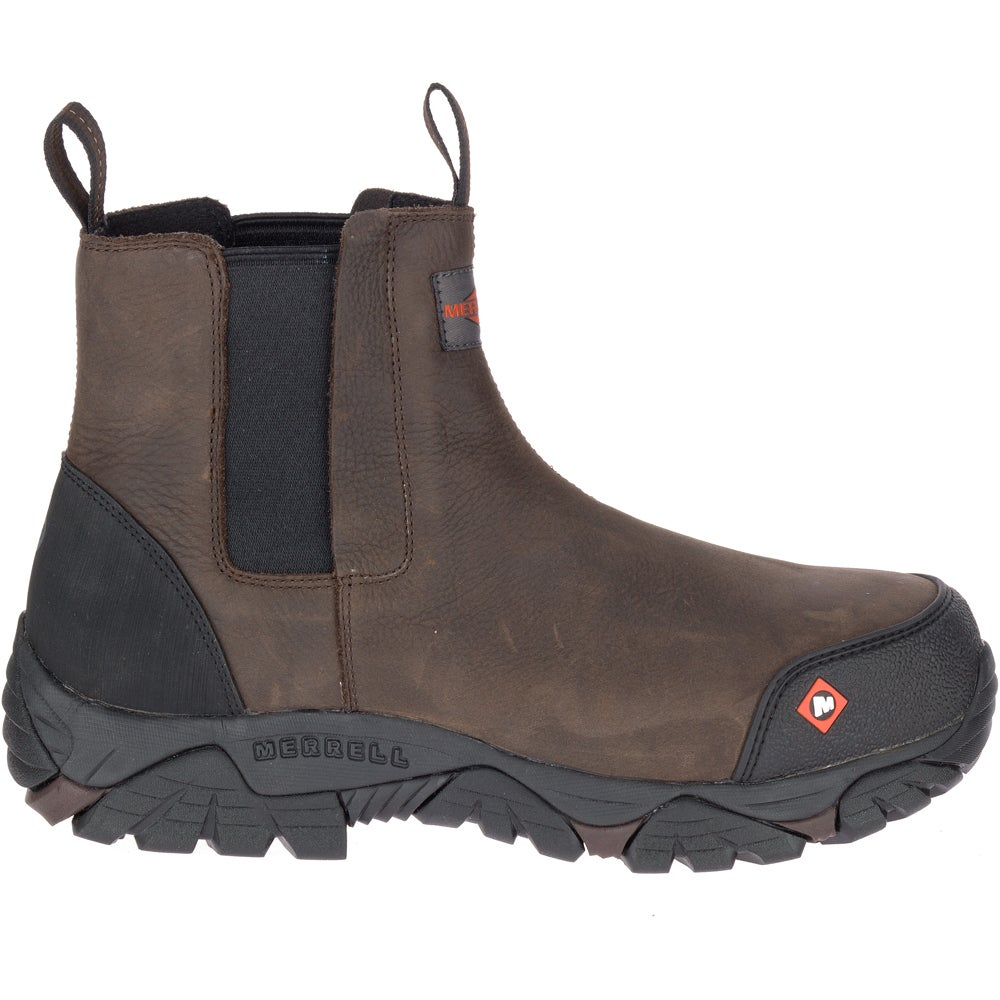 Merrell Mens Moab Rover Pull on Composite Toe Construction Boot