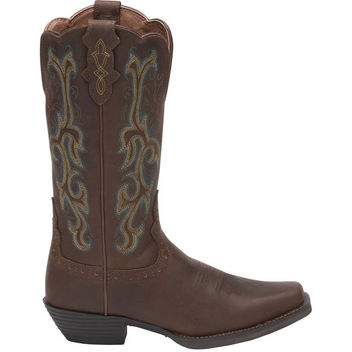 Justin Boots Durant Brown Womens Roper Western