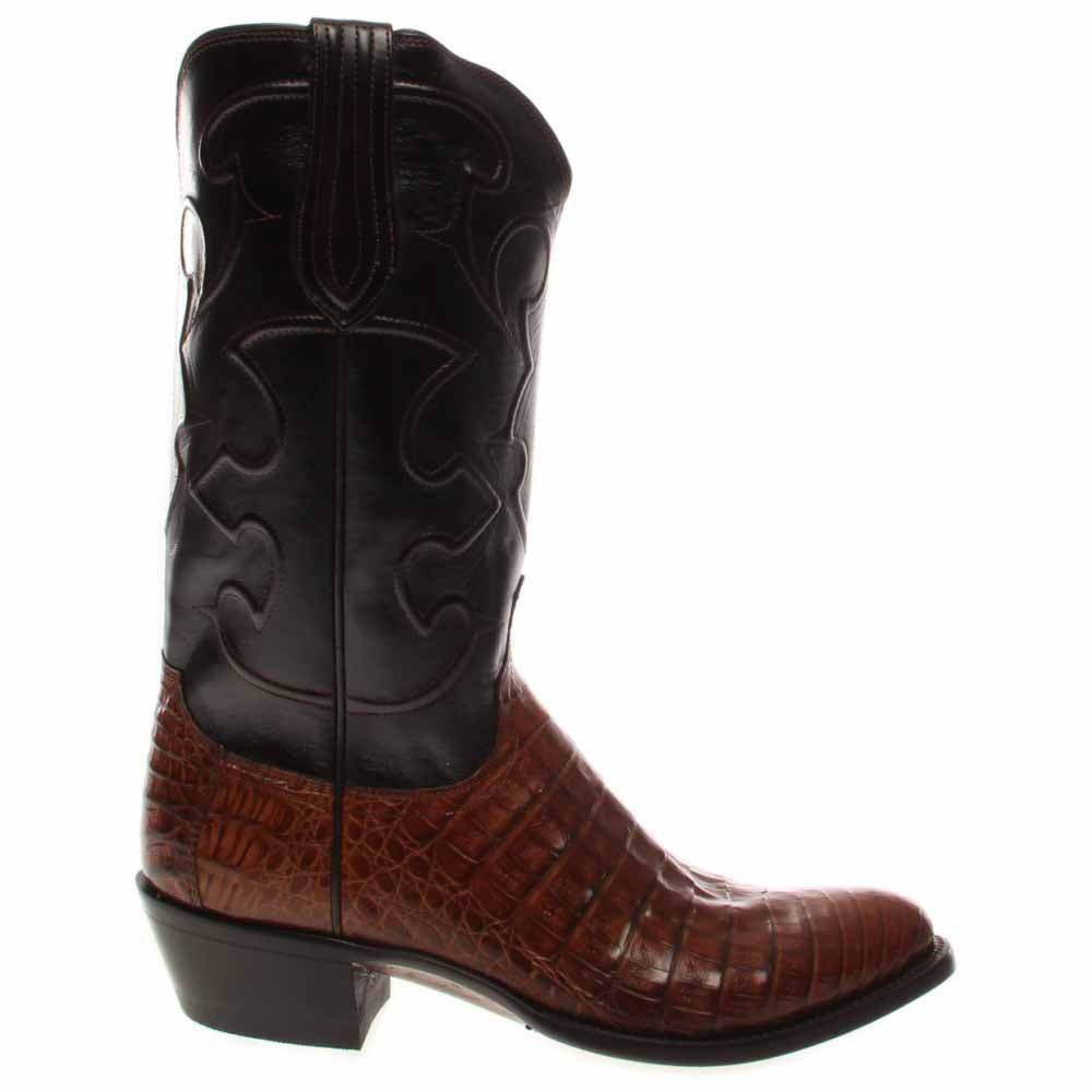 Lucchese Charles Crocodile Leather Boots