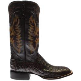 Rhys Hornback Caiman Crocodile Leather Boots