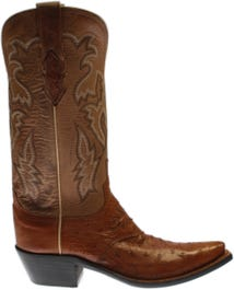 Augusta Full Quill Ostrich Leather Boots