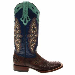 Amberlyn Full Quill Ostrich Exotic Leather Boots