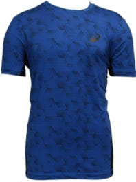 a7e9689372a52 ASICS Tiebreaker Blue Tee and get free shipping on orders more than $75