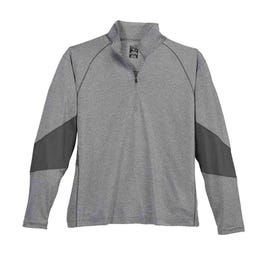 Quarter Zip Coverstitch Jersey