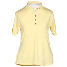 Ruched Sleeve Polo