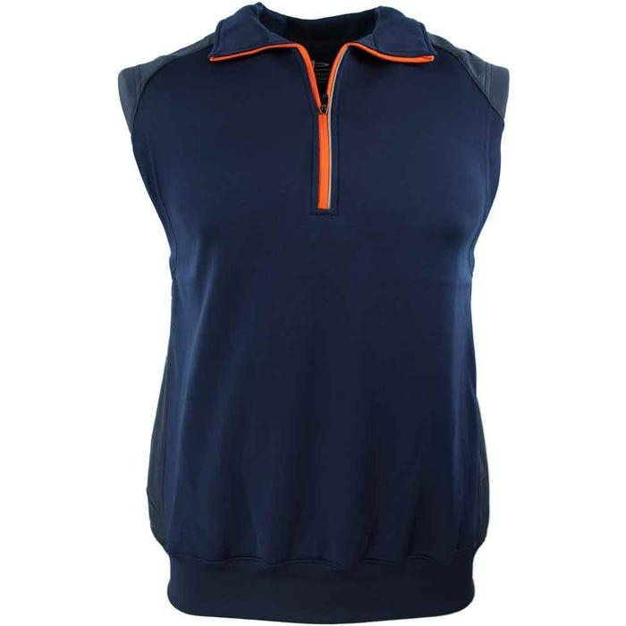 Half Zip Knit/Woven Vest