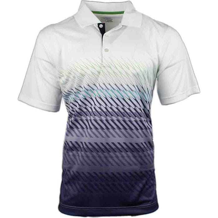 Angled Stripe Gradient  Polo