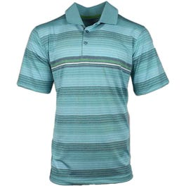 Page & Tuttle Heather Texture Stripe Polo