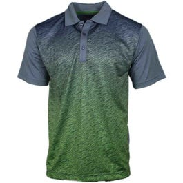 Diagonal Texture Gradient Polo