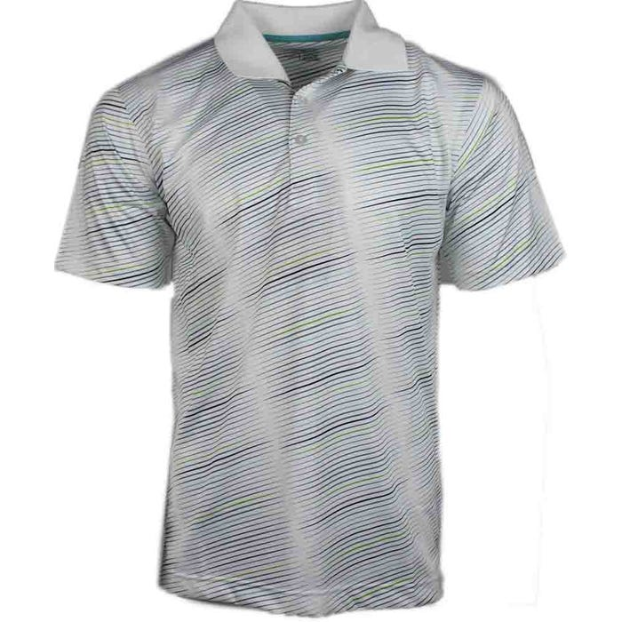 Diagonal Stripe Polo