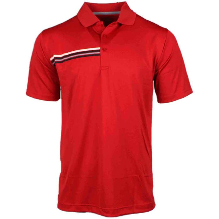 Asymmetrical Chest Stripe Polo
